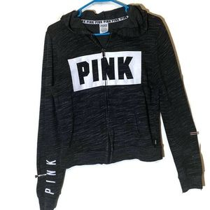 PINK Victoria's Secret Charcoal Grey Hoodie Small